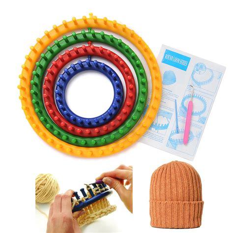 knitting tool easy pompom flower scarf hat maker loom needle knitting