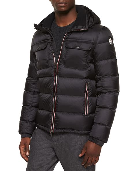 Quilted Puffer Jacket by Moncler Demar Quilted Puffer Jacket In Black For Lyst
