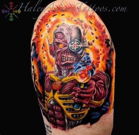 iron maiden tattoos iron maiden by tattoonow