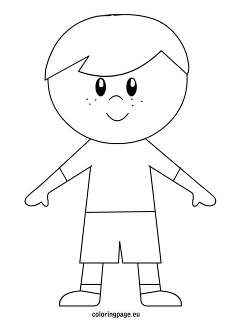 Little Boy Free Colouring Pages Coloring Pages Of A Boy