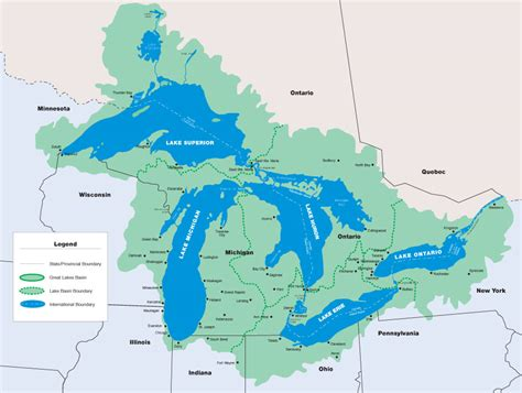 the great lakes map map the dynamic great lakes