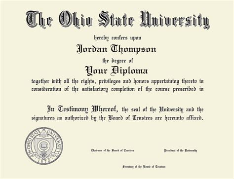 Does Ohio State An Mba Program by The Ohio State Silver Engraved Medallion