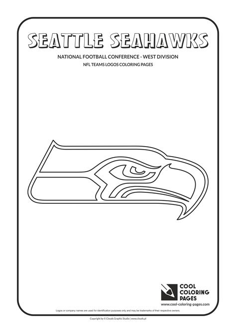 Nfl Teams Logos Coloring Pages Cool Coloring Pages Seattle Seahawk Coloring Pages