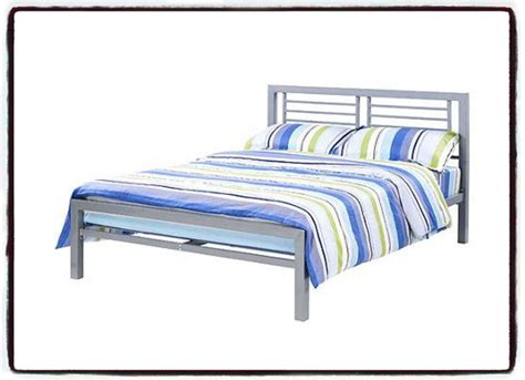 Metal Bed Frame Full Size Mattress Foundation Platform Bed Frames Headboards