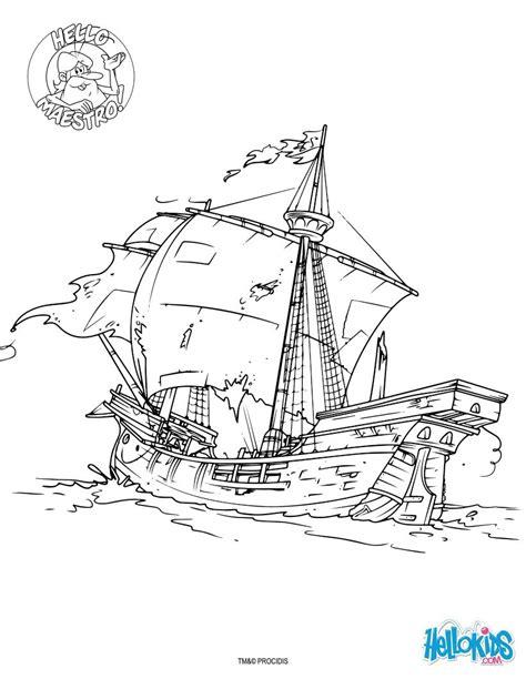 Leoni Jump Navy desenhos para colorir de a caravela de colombo pt