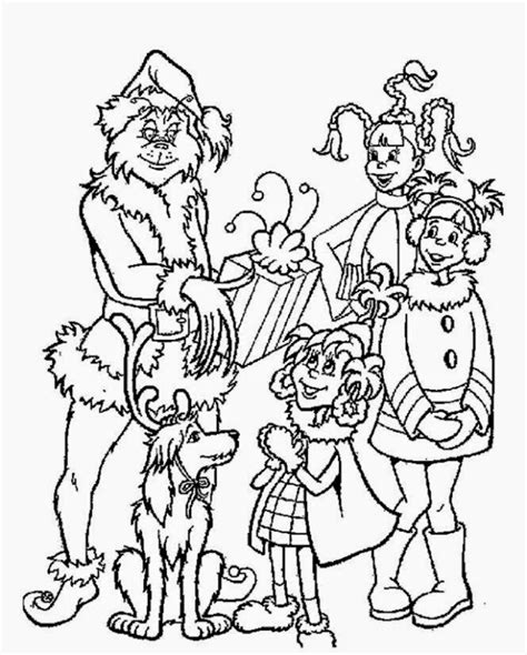 coloring pages of how the grinch stole christmas grinch coloring sheets free coloring sheet