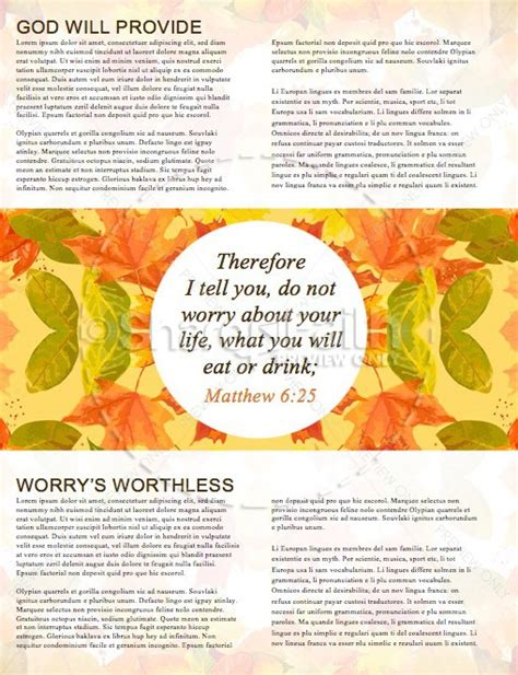 Christian Newsletter Templates by God Will Provide Christian Newsletter Template Template