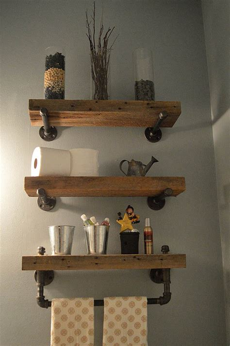 Wood Shelves Bathroom 20 Gorgeous Rustic Bathroom Decor Ideas To Try At Home The In