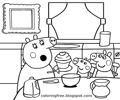 peppa pig cartoon coloring pages free coloring pages printable pictures to color kids