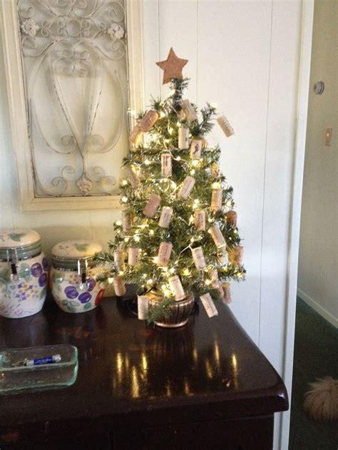 wine cork christmas tree holidays pinterest