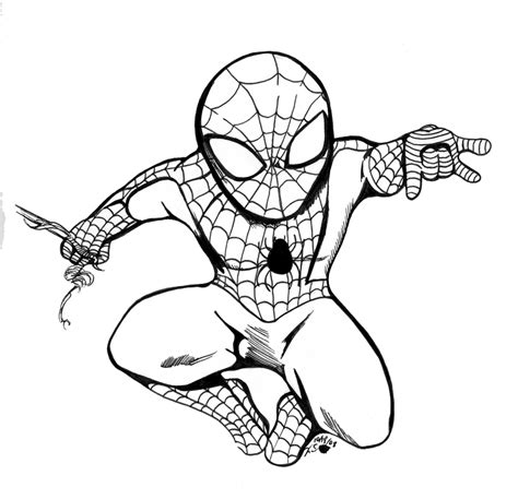 spider man chibi bw by bastett on deviantart