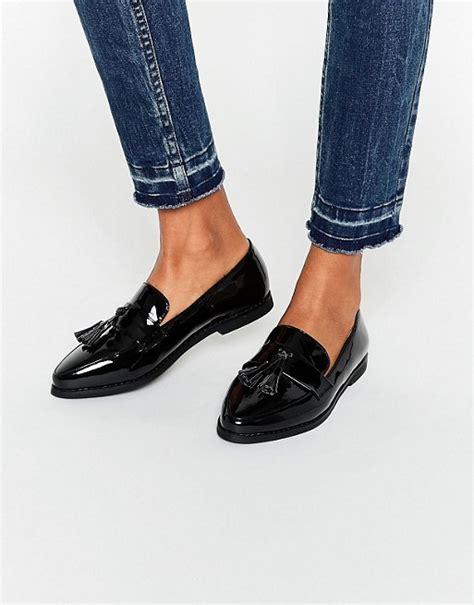 Trim Patent Flat Sandal By Asos by Black Patent Tassel Flat