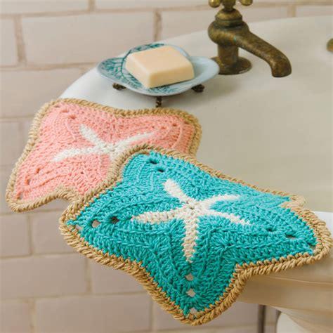 knitted starfish pattern starfish dishcloths