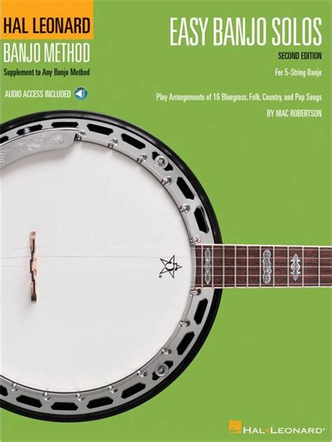 easy banjo songbook for beginners with audio access banjo primer books easy banjo solos for 5 string banjo second edition book