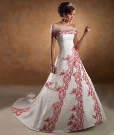 wedding dresses in different colors wedding fashion different colored wedding gowns