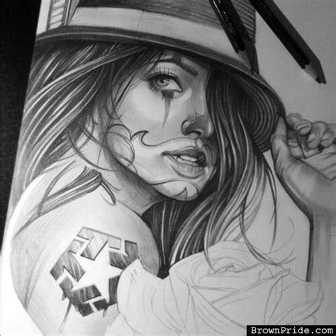 lady and the tr tattoo chicana drawing tattoos drawings
