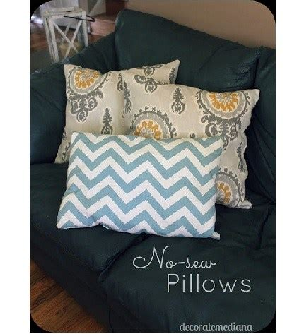No Sew Throw Pillows - tutorial no sew pillow throw covers sewing