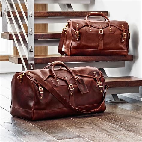 Rugged Travel Luggage Leather Duffle Duffel Bag Carry On Distressed Leather