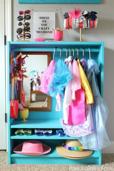 ikea billy bookcase hack diy dress up closet