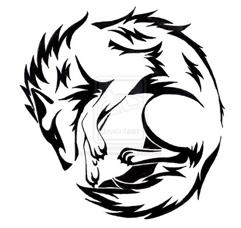 tribal shadow tattoo designs 42 wolf tattoos designs