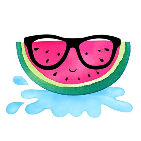 Ittaherl Clip 1 Pcs Watermelon watermelon 169 magrikie fruit illustrations wallpaper kawaii and illustrations