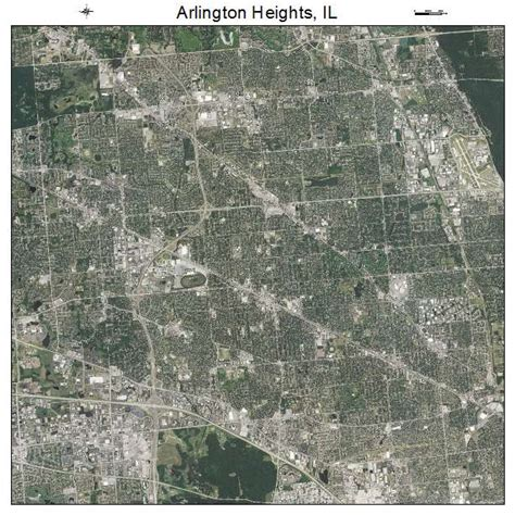 aerial photography map of arlington heights il illinois