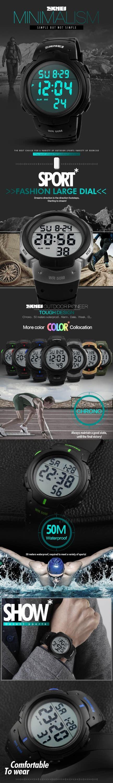 Box Packing Skmei skmei 1068 luxury brand sports watches dive 50m digital