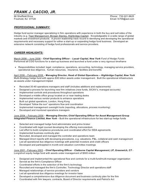 Hedge Fund Trader Resume Resume Ideas Hedge Fund Resume Template
