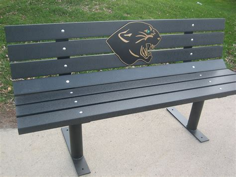 park bench kits logo park bench free standing w recycled plastic lumber m13bf 349 00 wood
