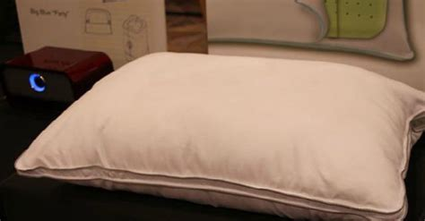 Has With Pillow by This Pillow Has Built In Speakers For Listening In Bed