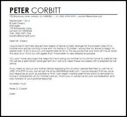Leave Letter To Manager   Leave Letters   LiveCareer