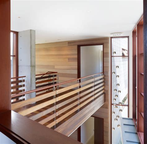Contemporary Banister Rails Interior Bridge Modern Hall Los Angeles By