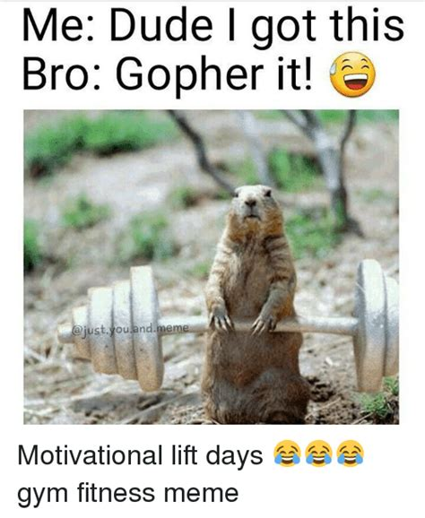 Gopher Meme - funny fitness memes of 2017 on sizzle lifts