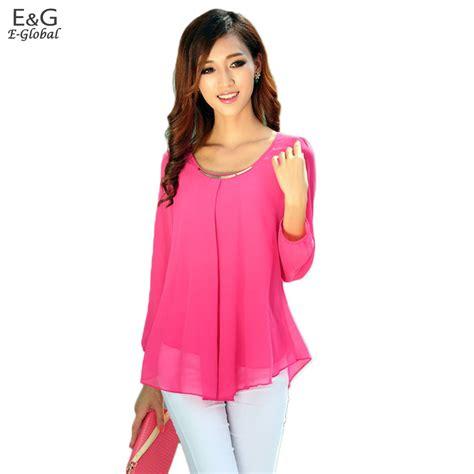 K Blouse chiffon blouses sleeve collar shirts 2015 fashion blouses clothing 59x in