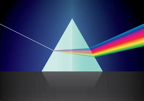 light prism 2 5 triangular prism and light free vector