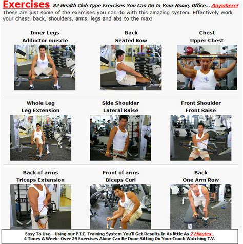 marcy home exercise chart quotes