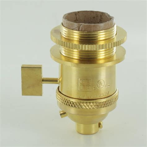 uno socket l shade l parts unfinished brass uno threaded single turn