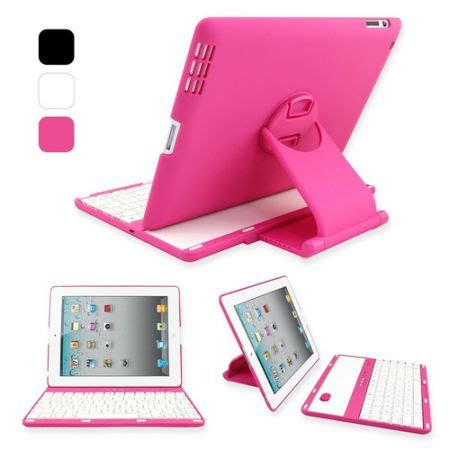 Sign Led Free Wifi Pink 1 360 swivel rotating bluetooth wireless keyboard cover