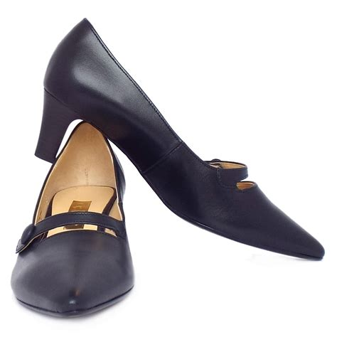 shoes for charity charity s smart kitten heel court shoes in navy