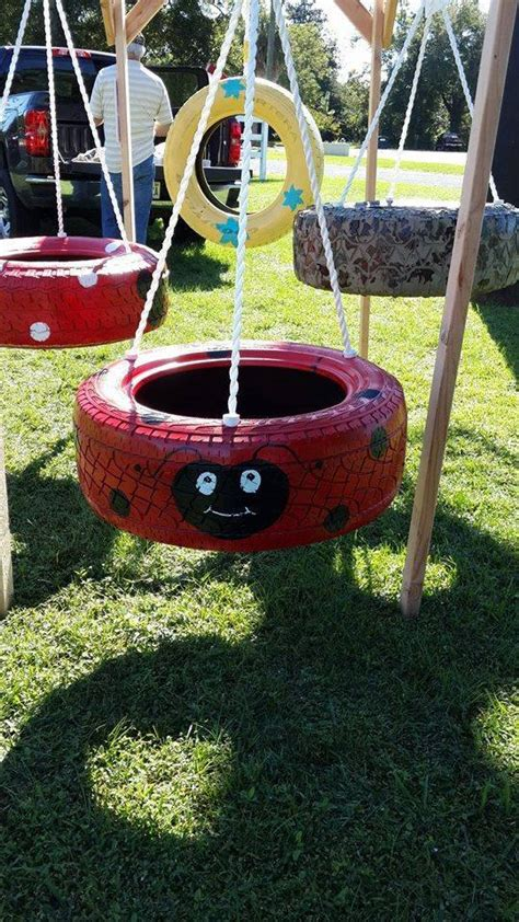 swings made out of tires 3 legged ladybug tire swing make your by knjretirementswings