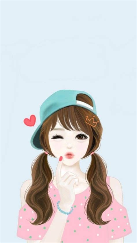 wallpaper cartoon ladies cute girl cartoon group 72