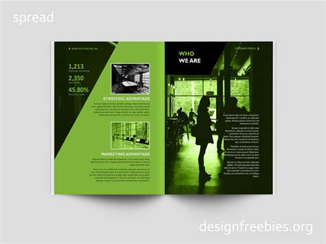 free template company profile design free black and green company profile indesign template