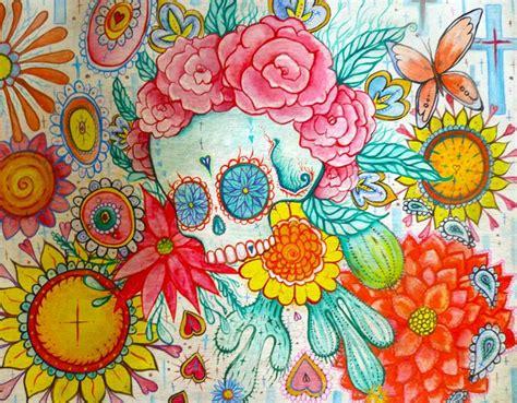 mexican sugar skull tattoo art busyspider paintings