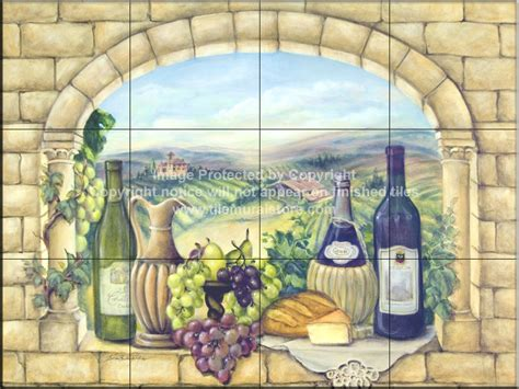Wall Mural Tiles decorative tile backsplash kitchen tile ideas tuscan