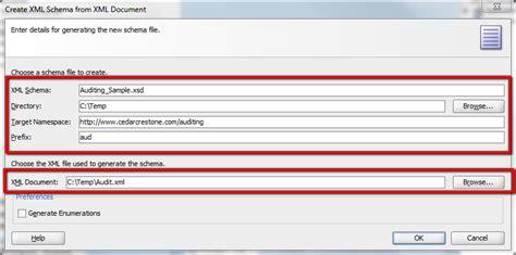 design xml form simplifying soa creating xsd from xml document using