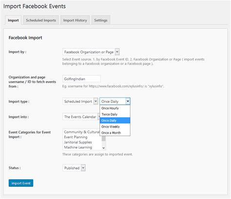facebook event themes import facebook events xylus themes