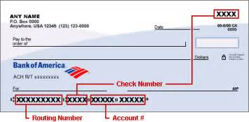Left hand side of a check that is affiliated with your account as seen