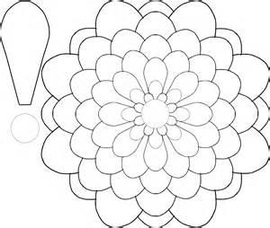 big flower template printable clipart flower multi choice template