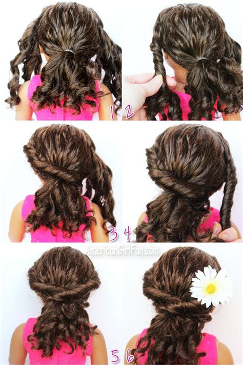 Doll Hair Style Doll by Twisted Ponytail For Curly Doll Hair American Doll