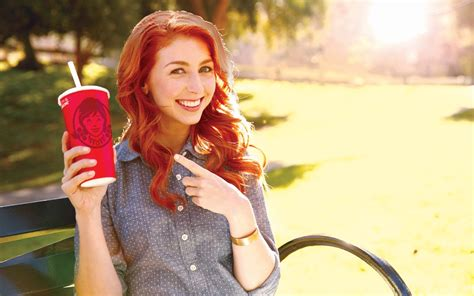 wendy s is the actress in the wendy s commercials a real redhead